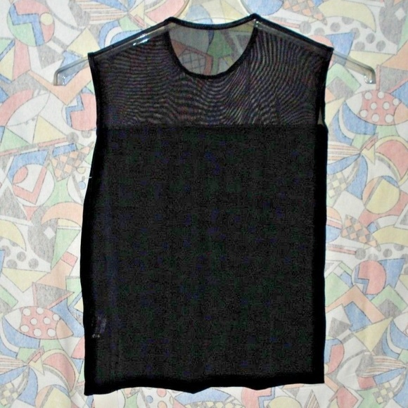 Tops - Woman's Sheer Black Blouse size M